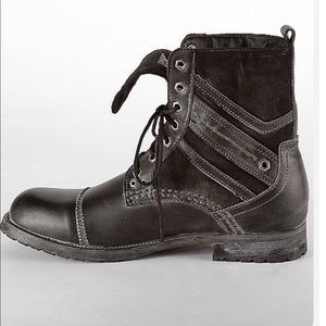 Buckle black  high wire men's combat boots
